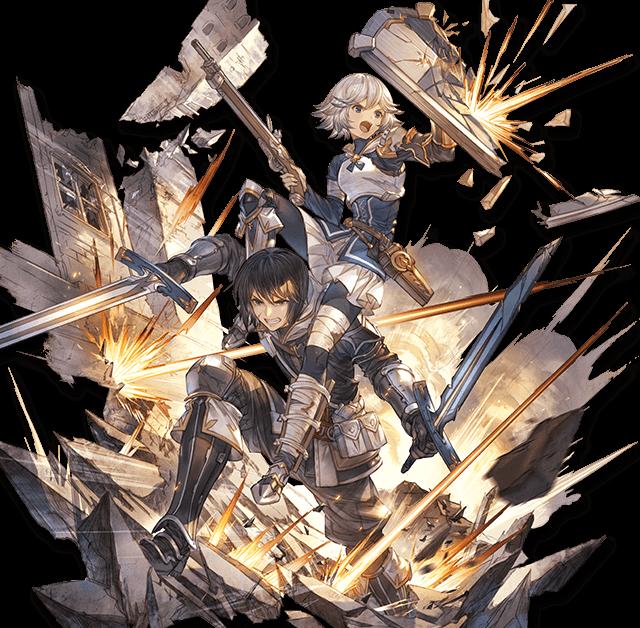 【グラブル】SSR光属性「同期組 ファラ&ユーリ」のキャラクター性能情報、TAで功剣Lv、被ターゲットで功盾Lvの固有ステが上昇、尻上がりかつ長期戦で輝くタイプか/リンクアビながらリキャスト3Tのかばうは使い道はありそう